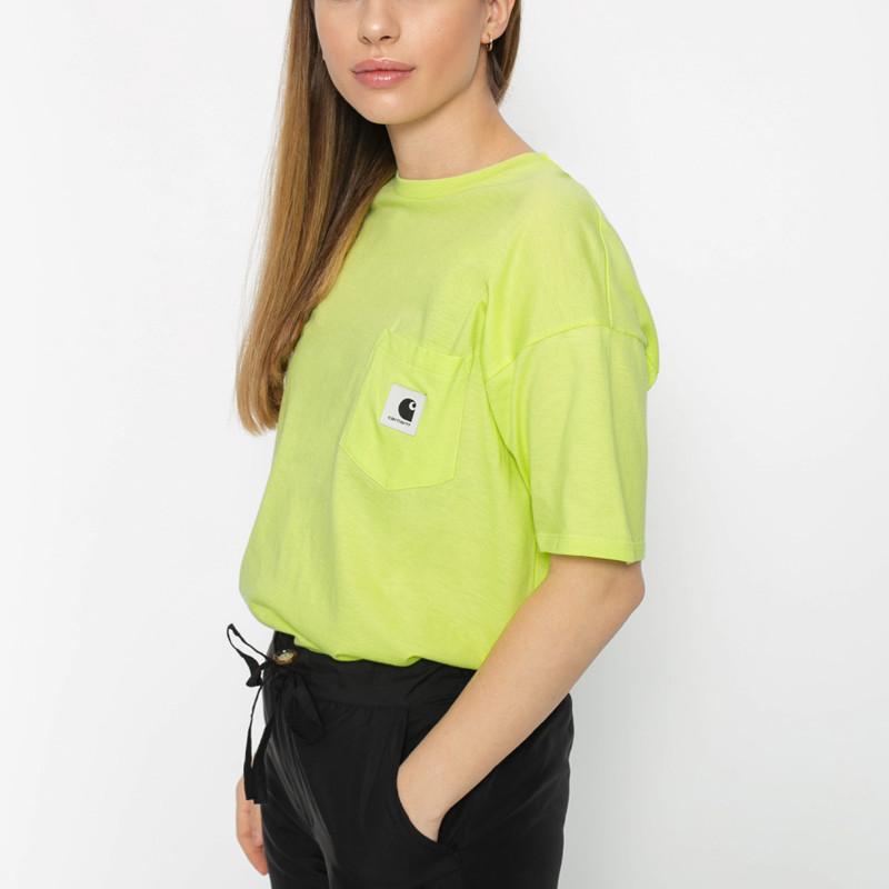 Camiseta Carhartt: W SS CARRIE POCKET T SHIRT (LIME ASH HEA)