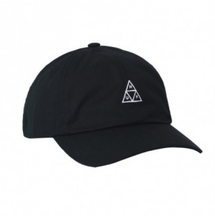 Gorra HUF: Essentials TT Logo CV 6 Panel (Black)