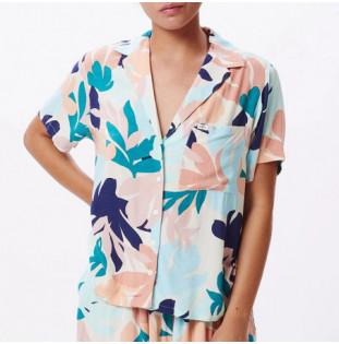 Camisa Obey: Decoupage Shirt (Pecan Multi)