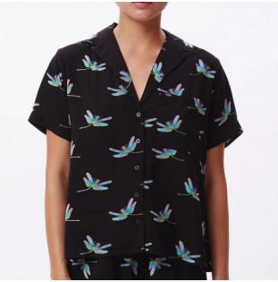 Camisa Obey: Wavelengh Shirt (Black Multi)
