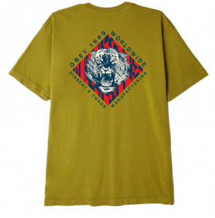 Camiseta Obey: Obey Dissent & Chaos Tiger (Nettle)
