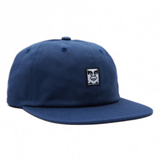 Gorra Obey: Icon Face 6 Panel Strapback (Dull Blue)