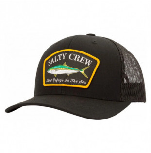 Gorra Salty Crew: Mossback Retro Trucker (Black)
