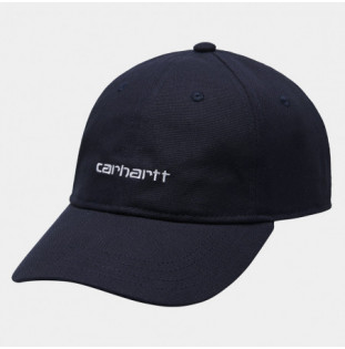 Gorra Carhartt: Canvas Script Cap (Dark Navy White)