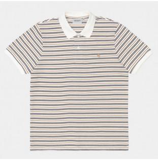 Polo Carhartt: SS Akron Polo (Akron Stripe Wax)
