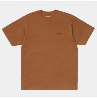 Camiseta Carhartt: SS Script Embroidery TShirt (Rum Black)