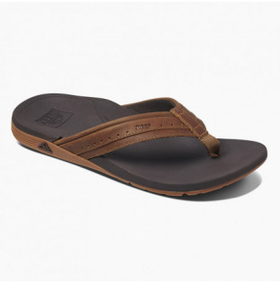 Chanclas Reef: M Leather Ortho Spring (Brown) Reef - 1