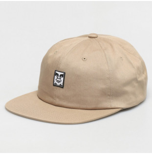 Gorra Obey: Icon Face 6 Panel Strapback (Light Khaki)
