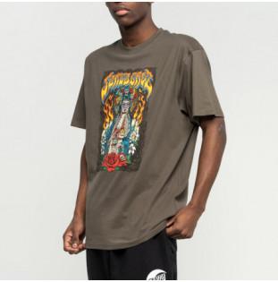 Camiseta Santa Cruz: Santa Muerte (Washed Black)