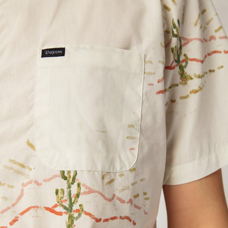 Camisa Brixton: CHARTER PRINT SS WVN (DOVE)