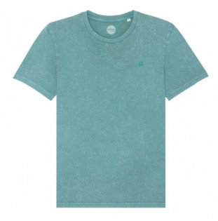 Camiseta Atlas: Vintage Bi Tee (G Dyed Teal Monstera)