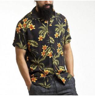Camisa Rhythm: Tiki Tropics SS Shirt (Vintage black) Rhythm - 1