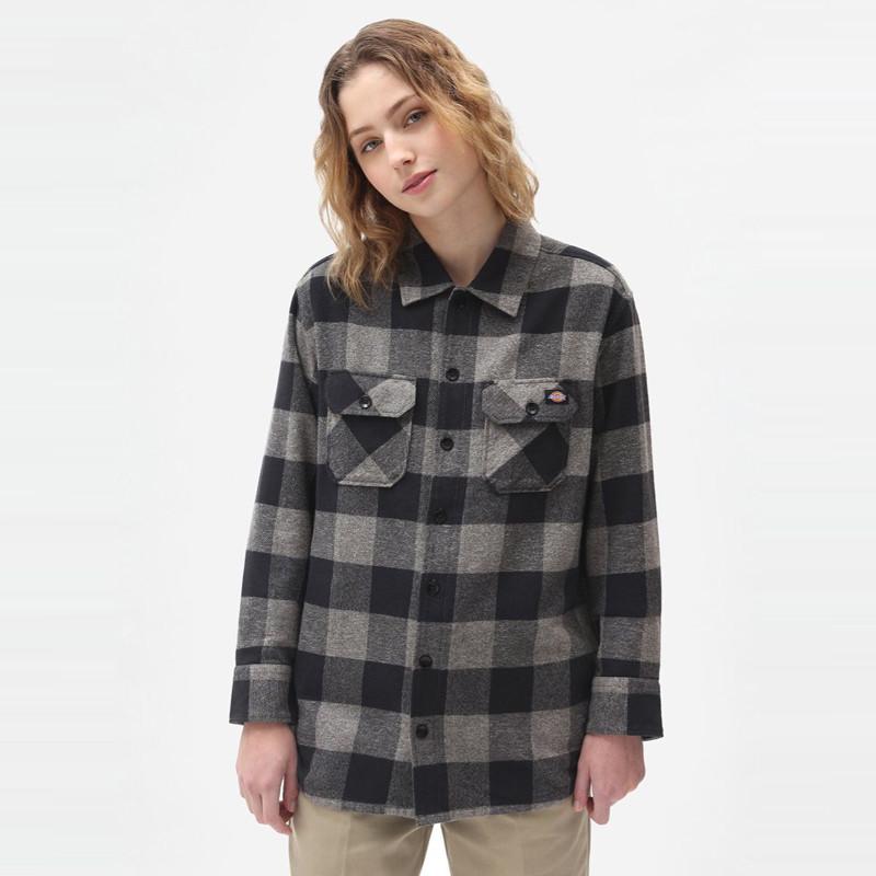 Camisa Dickies: New Sacramento Shirt (Grey Melange)