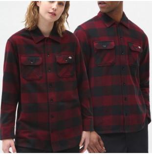 Camisa Dickies: New Sacramento Shirt (Maroon) Dickies - 1