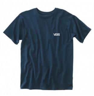 Camiseta Vans: Left Chest Logo Tee (Navy White) Vans - 1