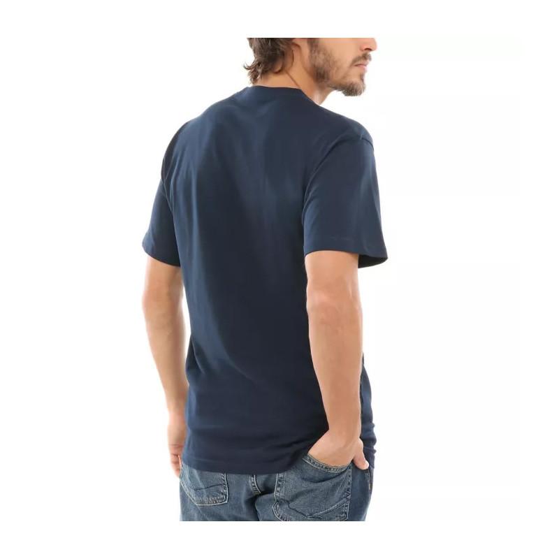 Camiseta Vans: Left Chest Logo Tee (Navy White)