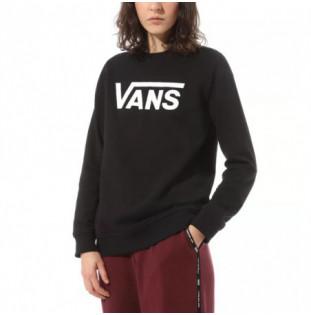 Sudadera Vans: Classic V Crew (Black) Vans - 1