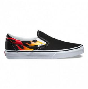Zapatillas Vans: Classic Slip On (FlameBlack Black Tr Wht)