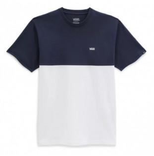 Camiseta Vans: Colorblock Tee (White Dress Blues)
