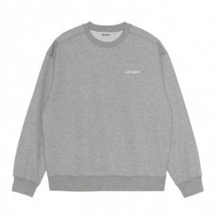 Sudadera Carhartt: W Script Embroidery Sweat (Grey Hea White) Carhartt - 1