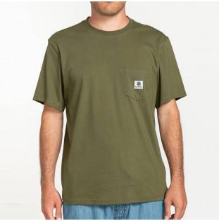 Camiseta Element: Basic Pocket Label S (Army) Element - 1