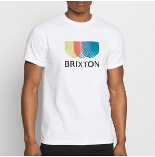 Camiseta Brixton: Alton Stripe SS STT (White) Brixton - 1