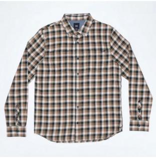 Camisa Vans: Alameda II (Scarab Oatmeal)
