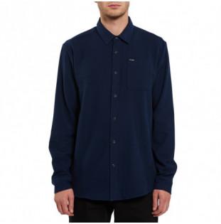 Camisa Volcom: Caden Solid LS (Navy) Volcom - 1