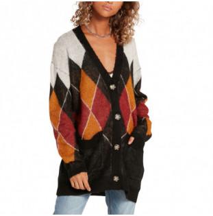 Jersey Volcom: Knitty City Cardi (Black Combo) Volcom - 1
