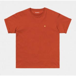 Camiseta Carhartt: W SS Chase T Shirt (Copperton Gold)