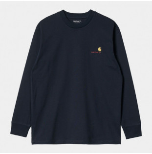 Camiseta Carhartt: LS American Script T Shirt (Astro) Carhartt - 1