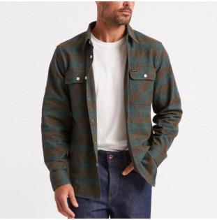 Camisa Brixton: Bowery LS Flannel (Ocean) Brixton - 1