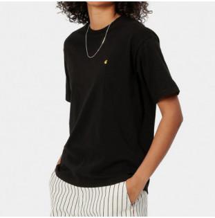 Camiseta Carhartt: W SS Chase T Shirt (Black Gold)