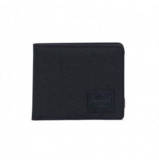 Cartera Herschel: Roy Coin RFID (Black Black)