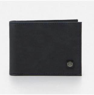 Cartera Element: Segur Leather Wallet (Black)
