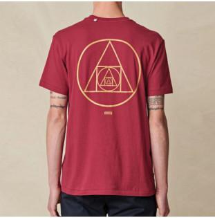 Camiseta Globe: Infinity Stack Tee (Rhubarb)