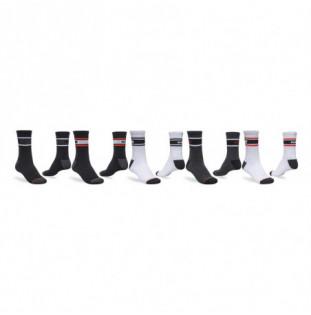 Calcetines Globe: Triple Stripe Crew Sock 5 Pack (Assorted)