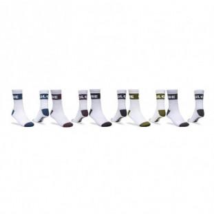 Calcetines Globe: Horizons Crew Sock 5 Pack (White Assorted)