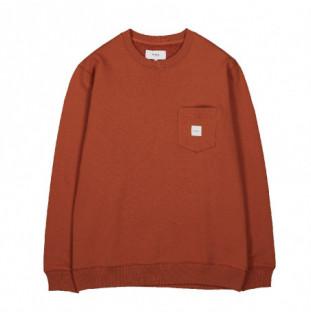 Sudadera Makia: Square Pocket Sweatshirt (Copper)