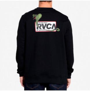 Sudadera RVCA: Snake Eyes Crew Neck (Black)
