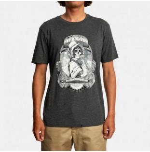 Camiseta RVCA: Skull Bonnet (Dark Charcoal)