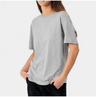 Camiseta Carhartt: W SS Chase T Shirt (Grey Heather Gold)