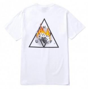 Camiseta HUF: Hot Dice TT SS Tee (White) HUF - 1