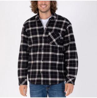Chaqueta Hurley: Santa Cruz Sherpa Lined Shacket (Black)
