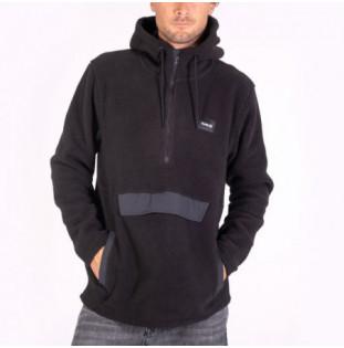 Sudadera Hurley: Anorak Sherpa Fleece (Black)