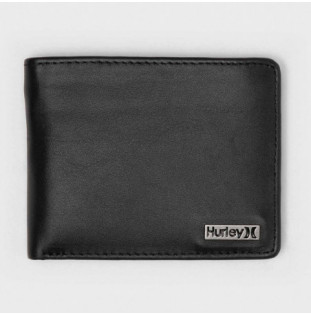 Cartera Hurley: OAO Leather Wallet (Black)