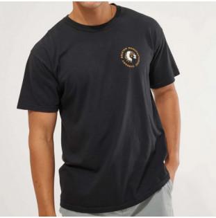 Camiseta Brixton: Rival Stamp SS Stt (Black Garment Dye)