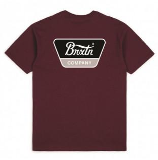 Camiseta Brixton: Linwood SS Stt (Burgundy)