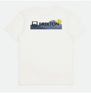 Camiseta Brixton: Alpha Block SS Tlrt (Mountain Off White)