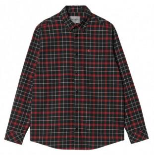 Camisa Carhartt: LS Baxter Shirt (Baxter Check Black Arrow)